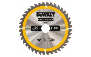 DeWALT DT1945 TARCZA DO PILAREK 190x30mm 40T (AC)